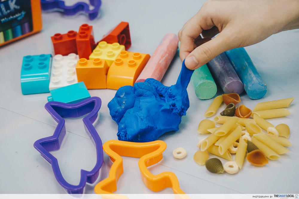 Sensory play materials at Romp n' Roll Singapore