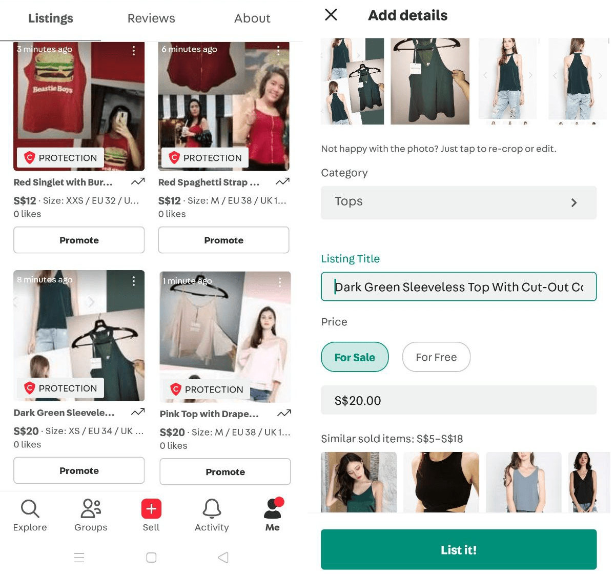 Selling Clothes on Carousell Singapore