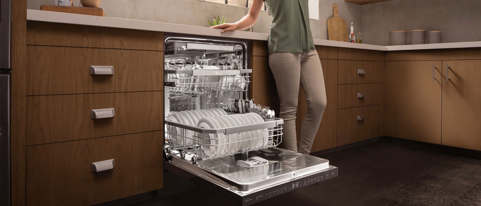 affordable dishwashers in singapore - LG DFB425FP voice control built-in dishwasher