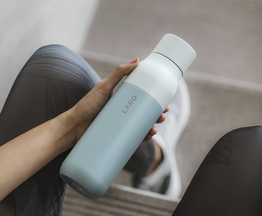 The LARQ self-cleaning bottle gets rid of germs on its own