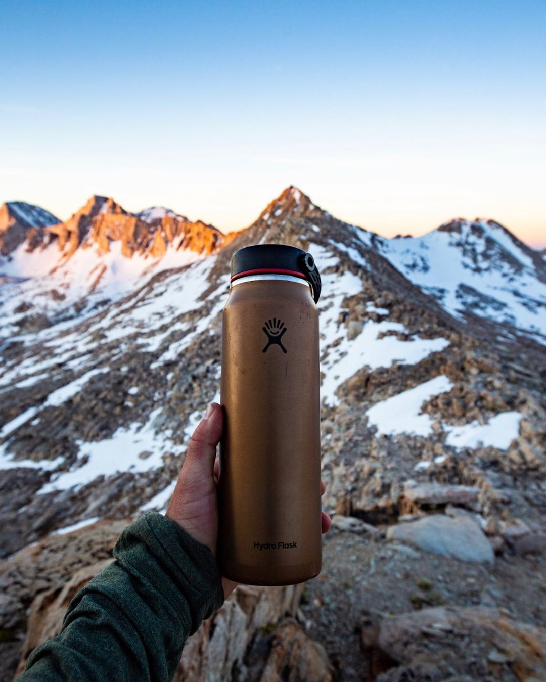 the hydroflask is a reliable and durable bottle that has interchangeable lids to match every need