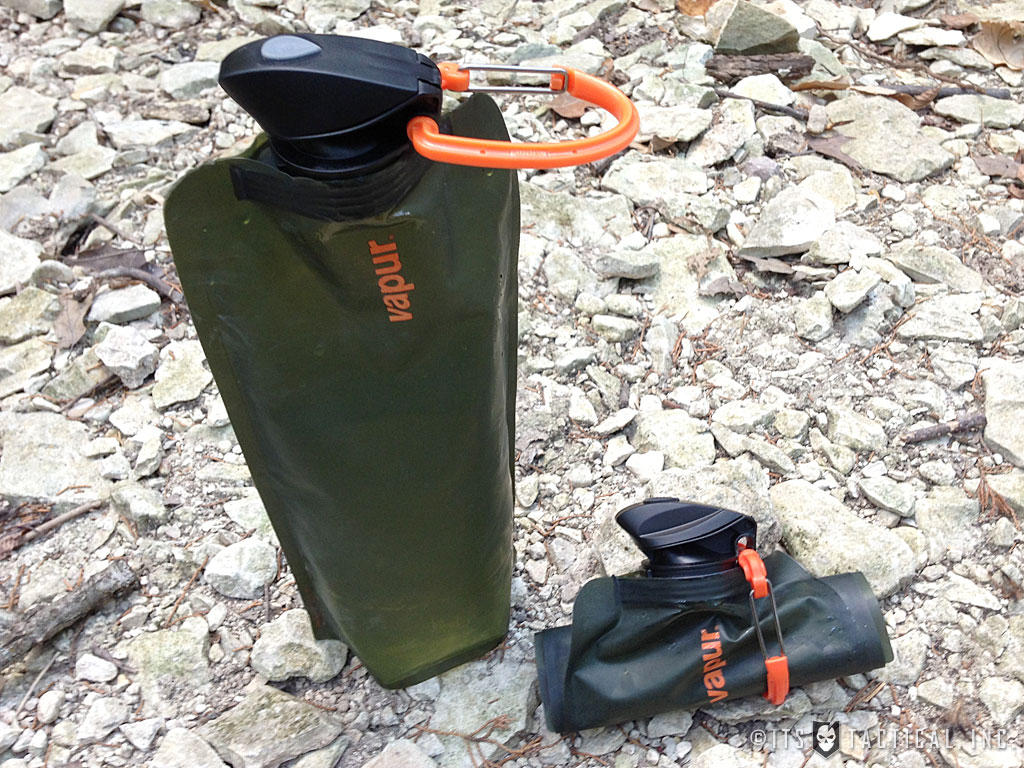 the vapur anti-bottle allows you to save a lot of space due to its foldable quality