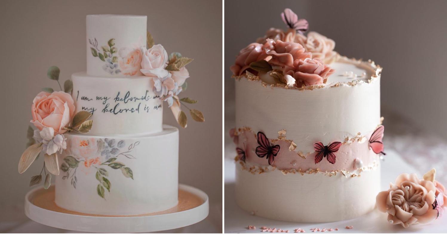 Floral cake design
