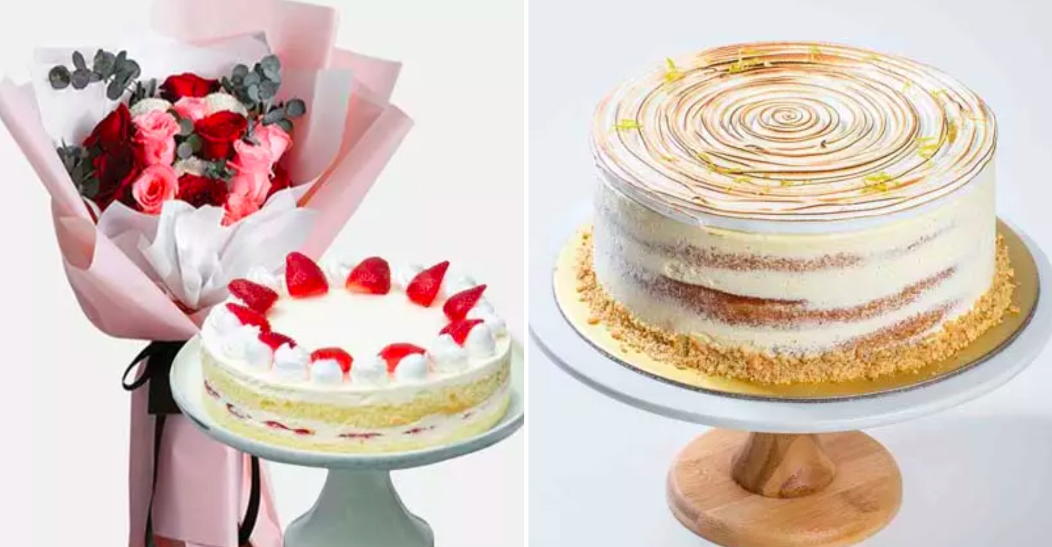 Pair your cake with flowers for a birthday