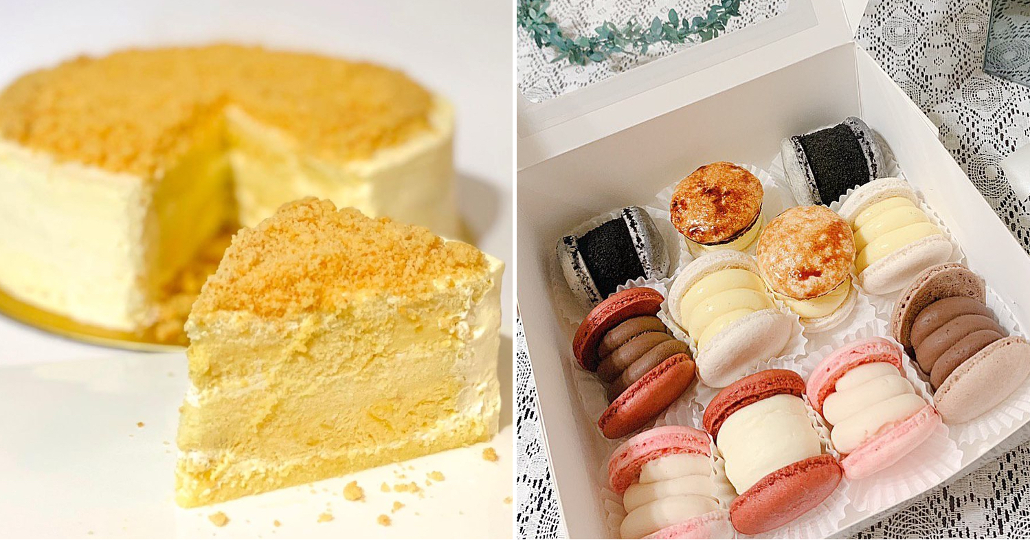 cake delivery singapore - durian MSW cake and unique macarons