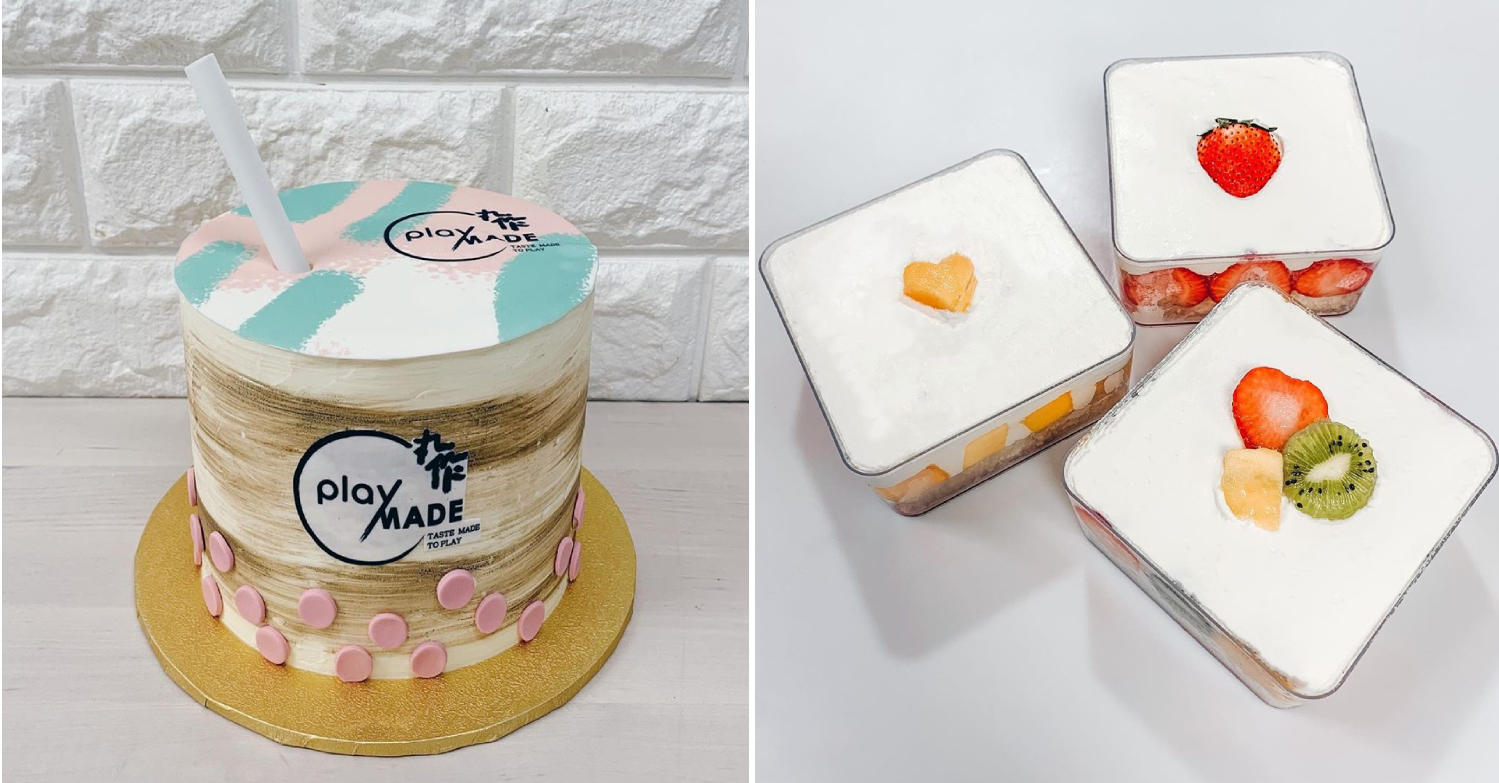 cake delivery singapore - playmade bubble tea cake