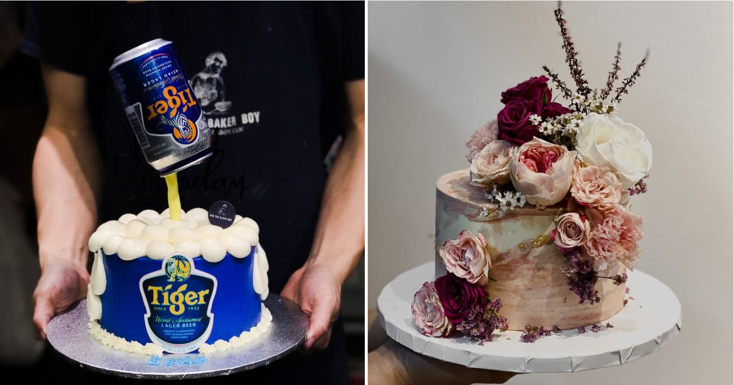 cake delivery singapore - floating beer cans