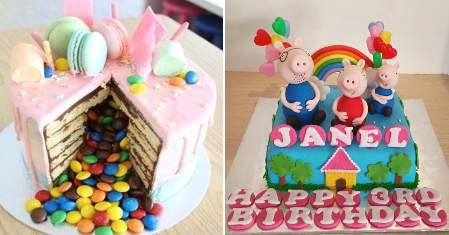 M&M rainbow explosion cakes