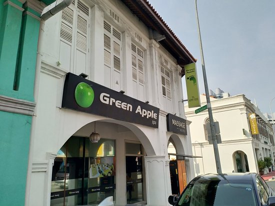 exterior of green apple spa