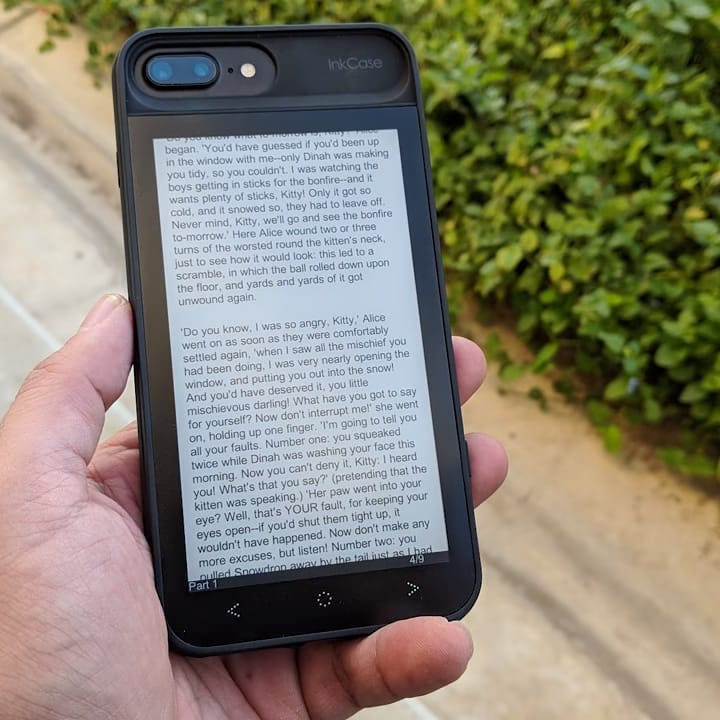 Oaxis InkCase on an iPhone