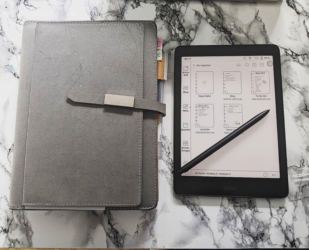 The Onyx Boox Nova 2 e-ink tablet with stylus