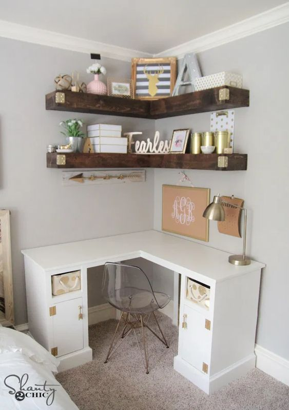 home office ideas - Corner nook desk