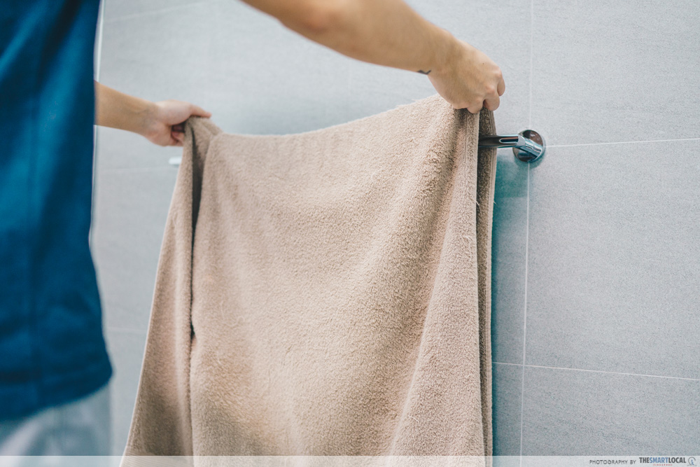 changing towel