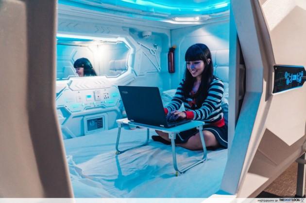Capsule hotel at MET A Space Pod