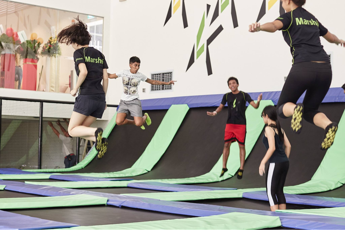 orto at khatib - katapult trampoline park on the grounds