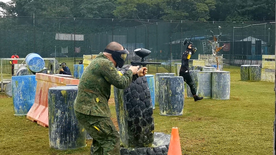 orto at khatib - shoot paintballs at Red Dynasty Paintball Singapore