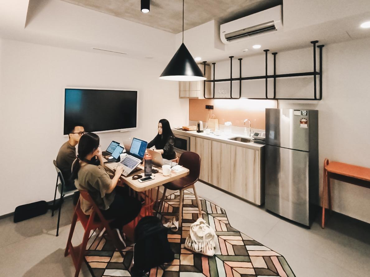 lyf funan workation - living room