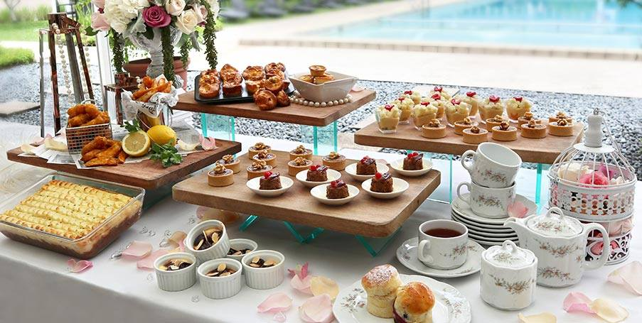 Goodwood Hotel's L'Espresso English Afternoon Tea spread, assisi fun day 2020
