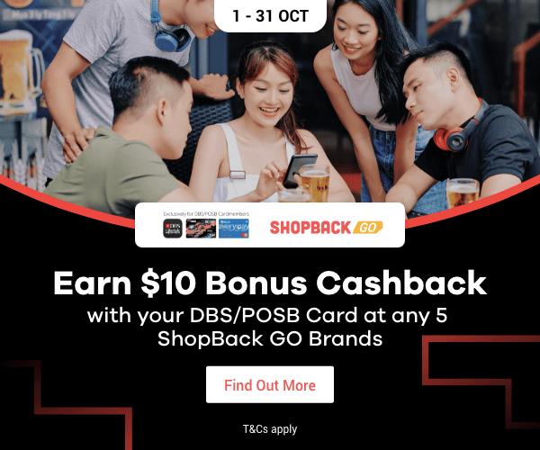 Bonus Cashback DBS ShopBack GO