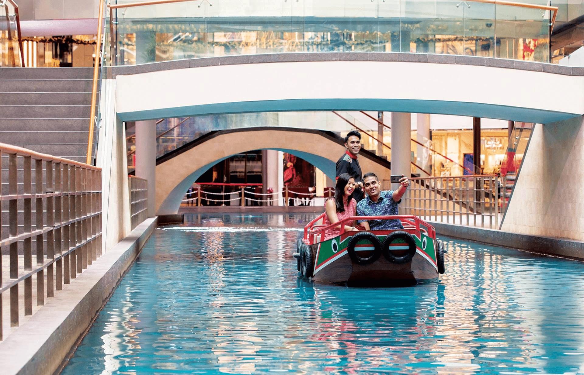 Sampan ride in Marina Bay Sands The Shoppes