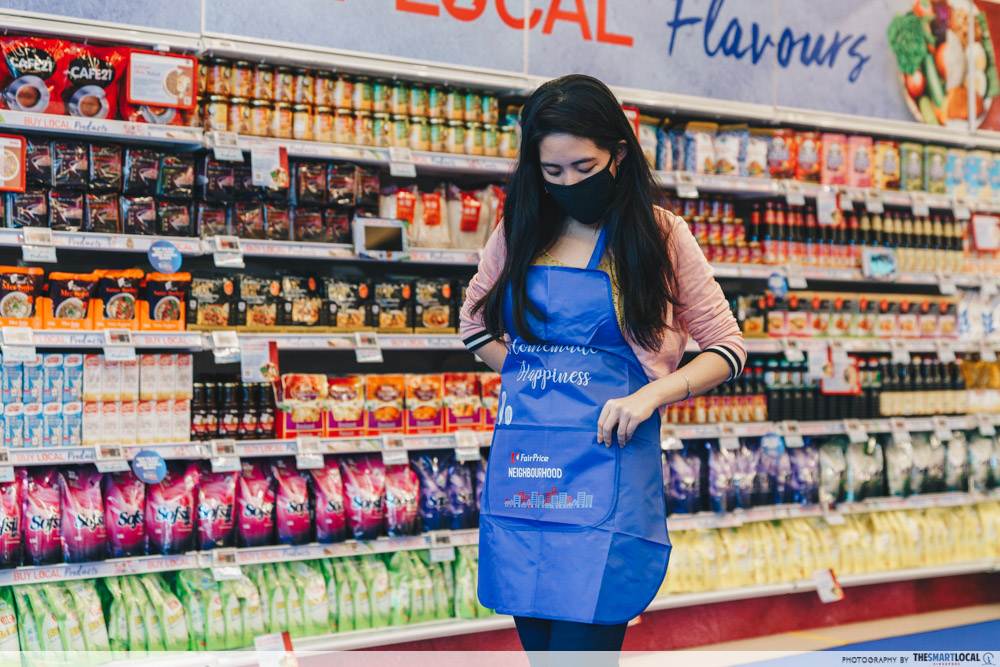 Limited Edition FairPrice Neighbourhood Apron Free