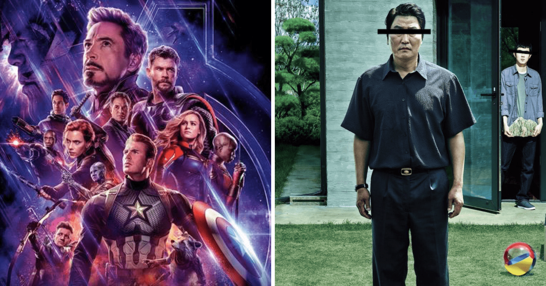 avengers endgame, parasite movie, poh kim dvd blu-ray