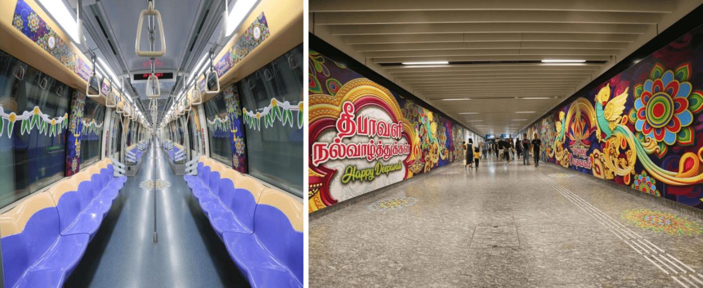 Deepavali MRT Decorations Singapore 2020