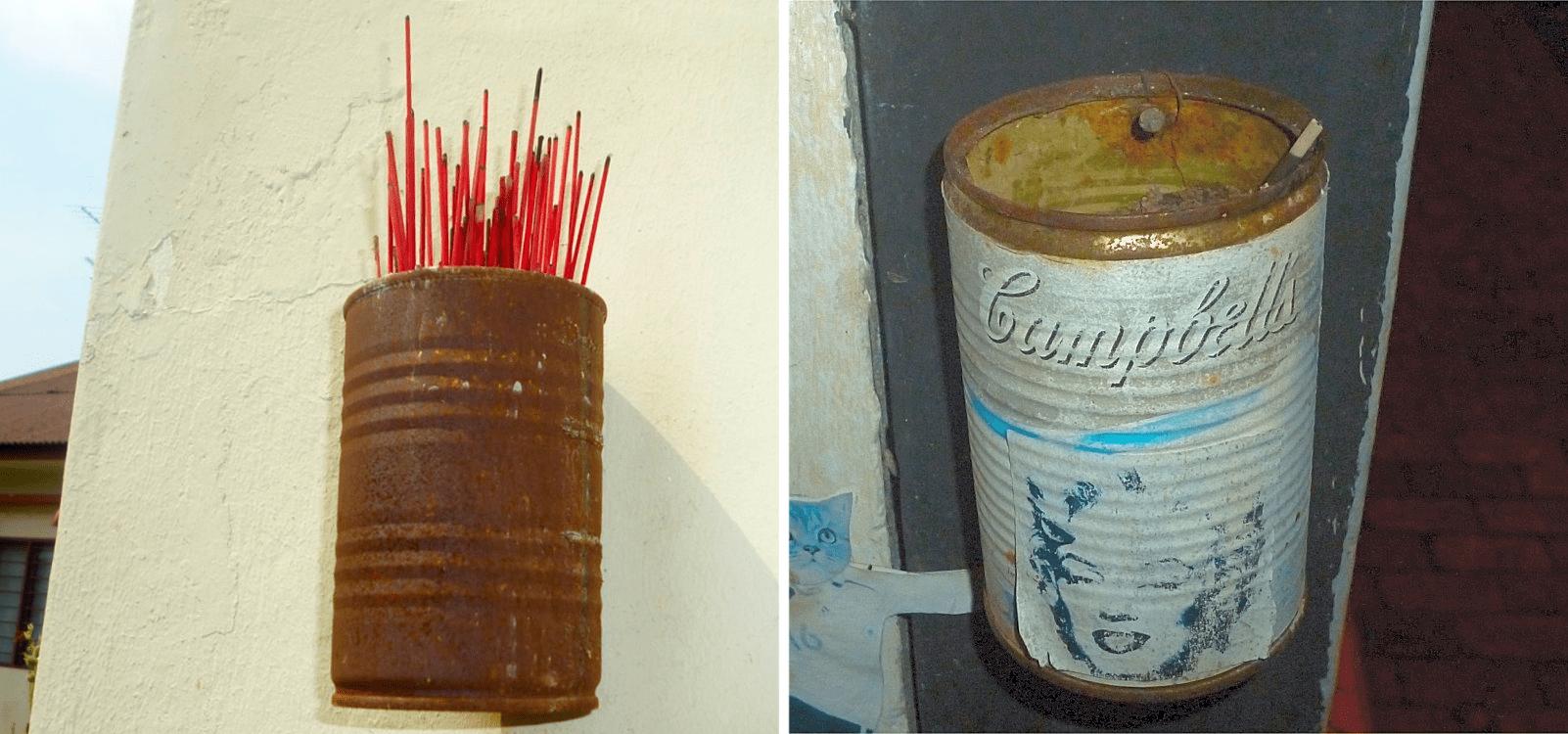 DIY Makeshift Joss Stick Holder Singapore Buddhism