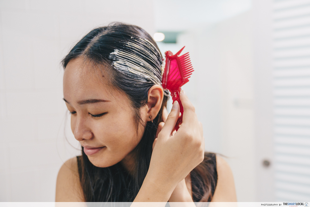 apply hoyu cielo cream on hair