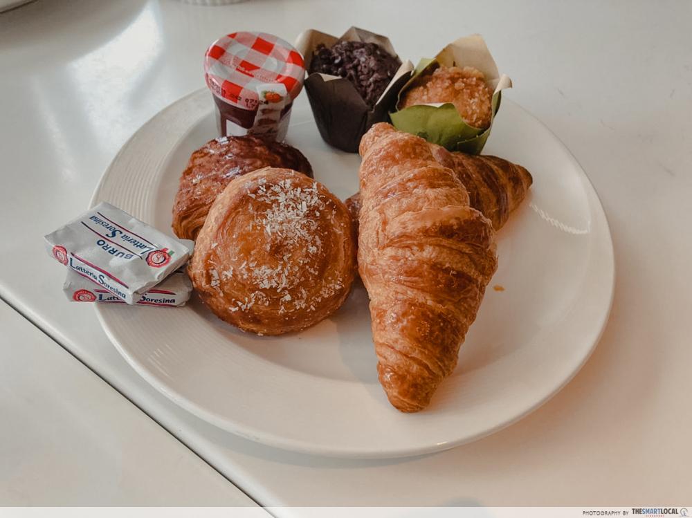 Pastries Platter at Hilton breakfast