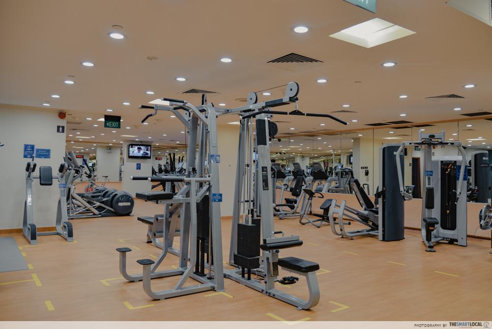 Gym at Hilton