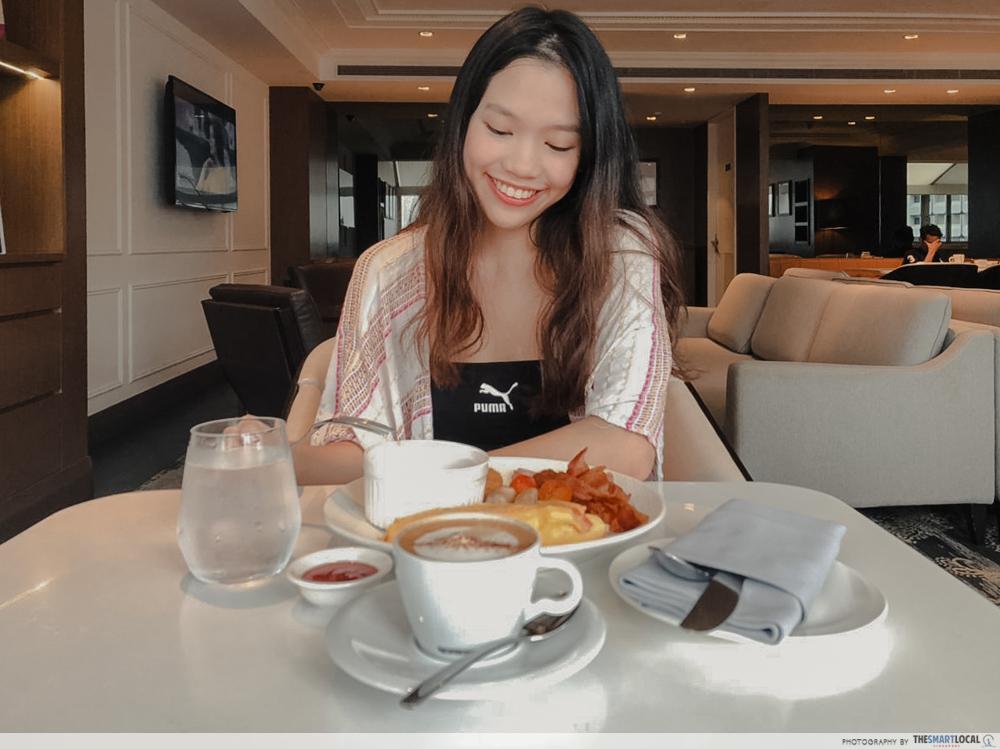 Unlimited breakfast at Hilton