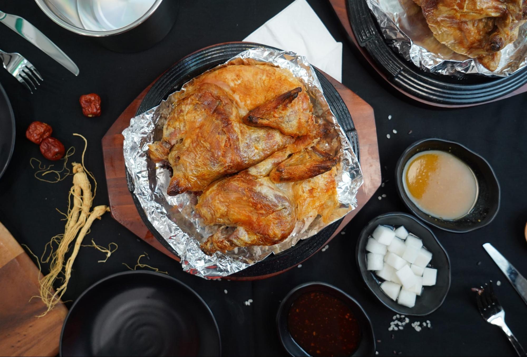 firewood chicken, firewood bagel & chicken
