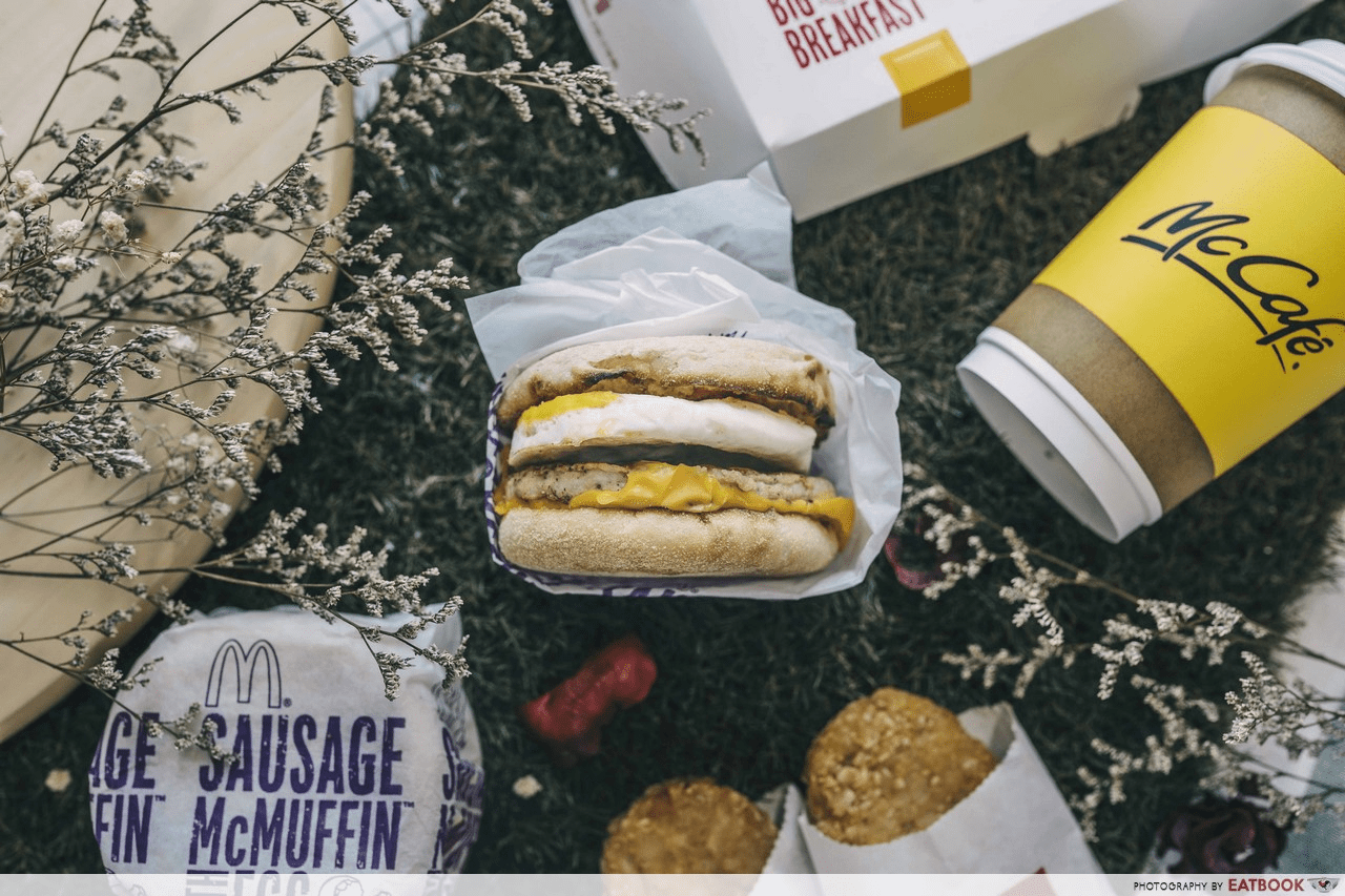 Free Sausage McMuffin with egg