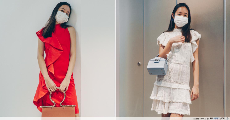 Stephanie Asymetrical Ruffle Mini Dress and Bea Lace Insert Fringe Dress
