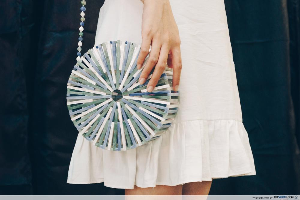 Cult Gaia crossbody circle bag