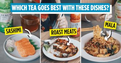 Pokka No Sugar Teas Singapore Food Pairing
