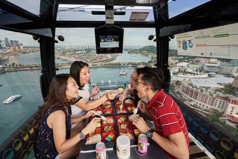 Sentosa Cable Car promotion - 1-for-1 Singapore Flavours Cabin Sky Dining