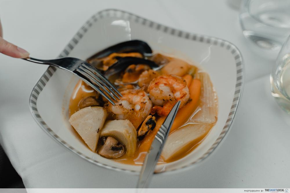 seared prawn and scallop