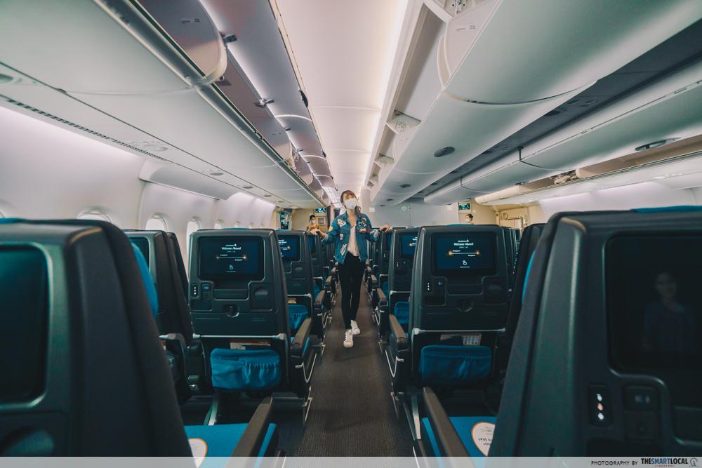 singapore airlines plane tour
