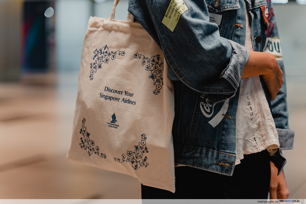 singapore airlines tote bag