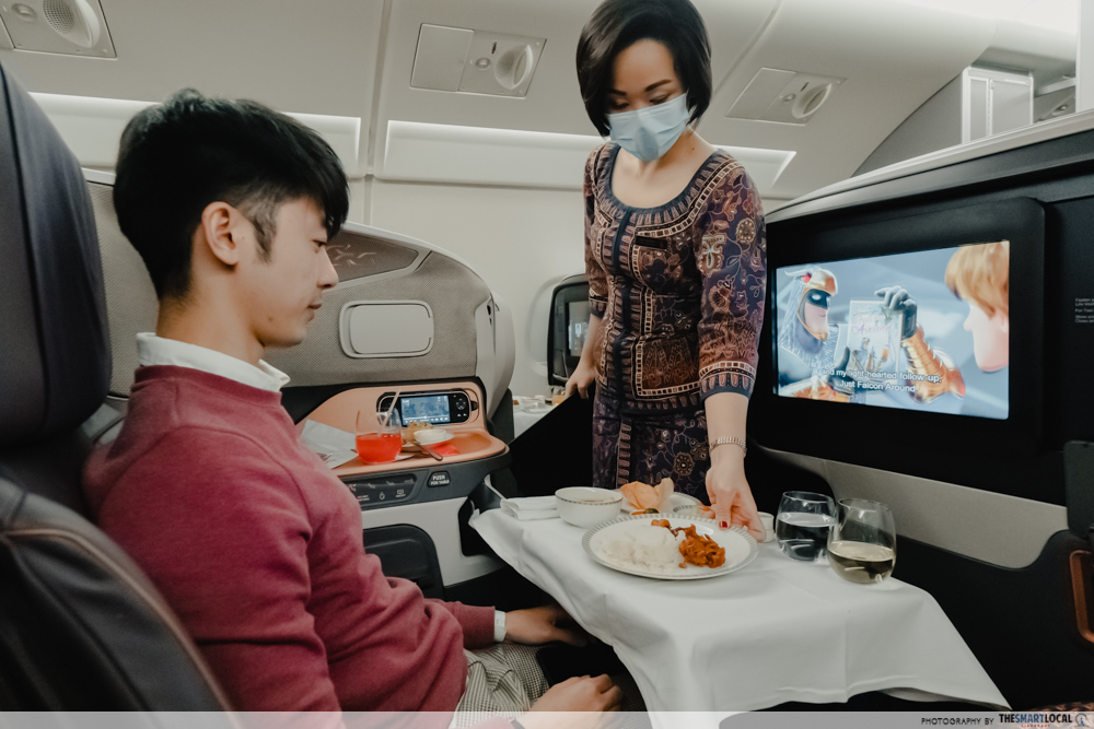 singapore airlines a380 business class