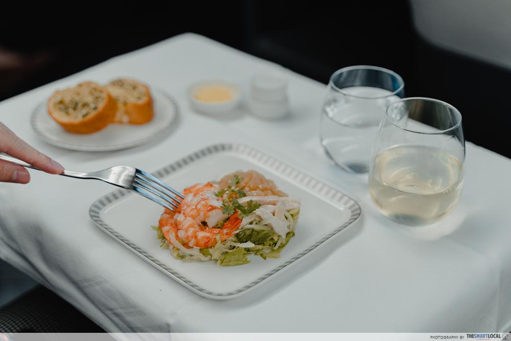 prawn chicken and jellyfish salad