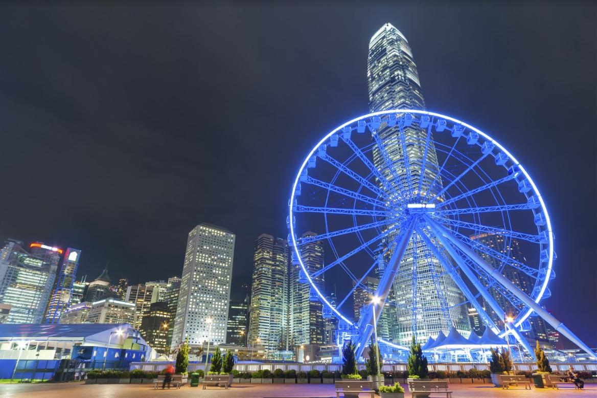 Hong Kong Observation Wheel at night