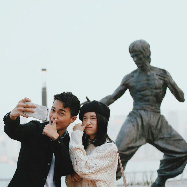 Bruce Lee statue at Avenue of Stars Hong Kong