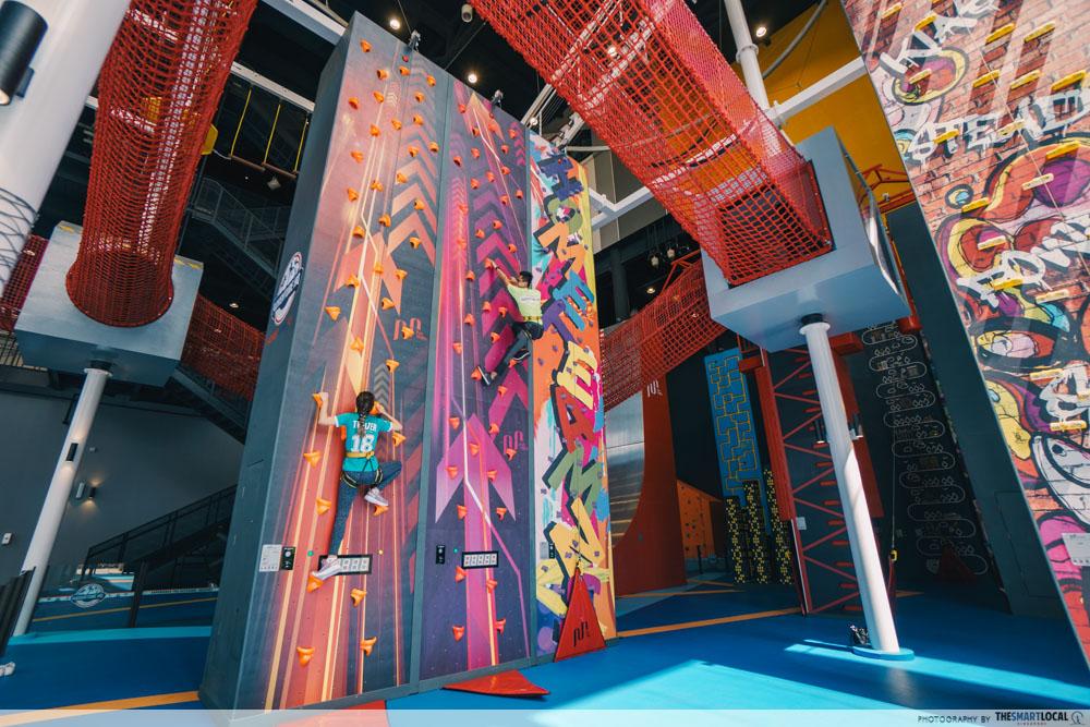 Adventure HQ - vertical race wall