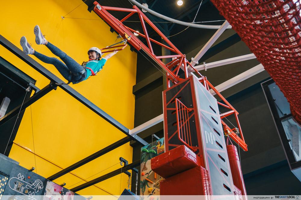 Adventure HQ - jump in the air