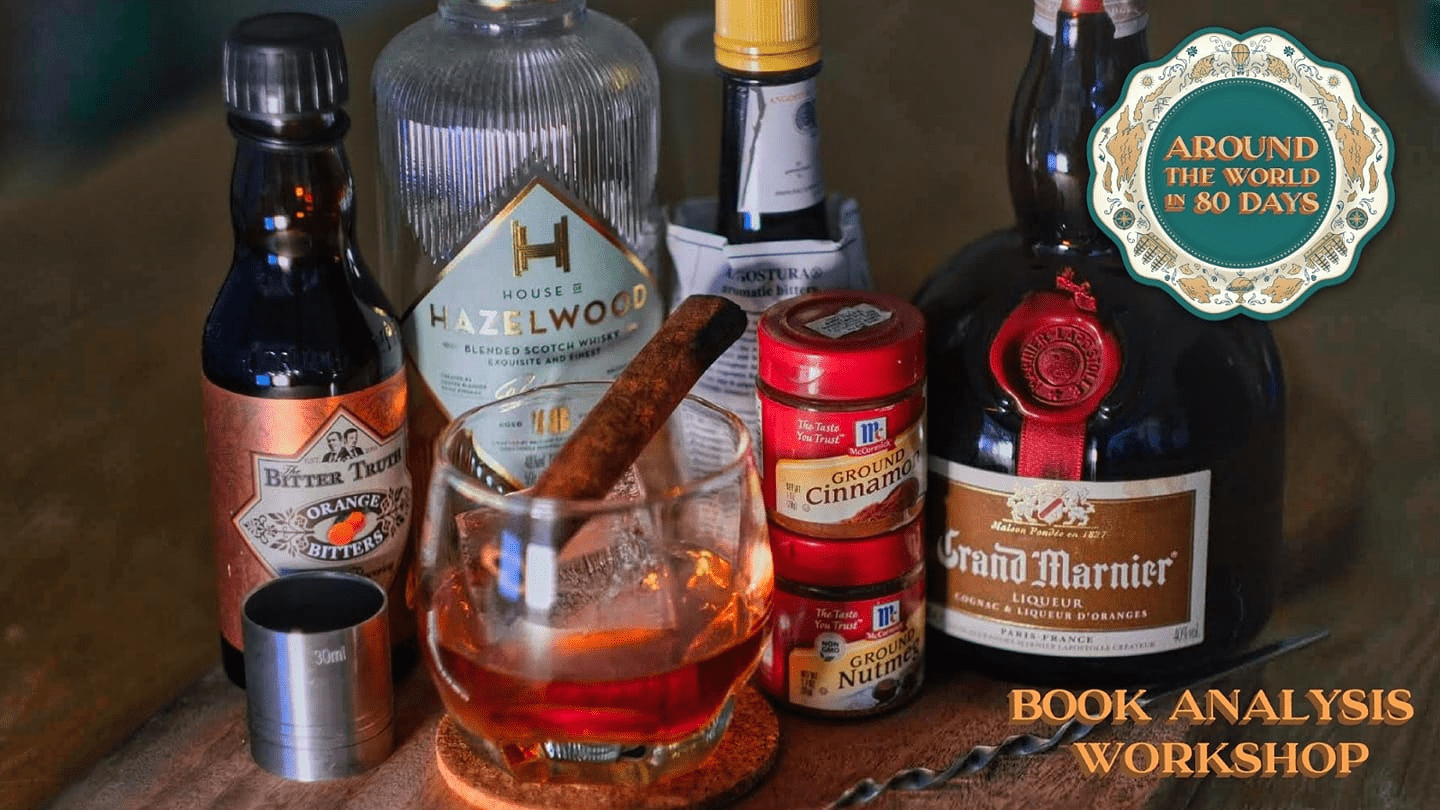 Kolkata old fashioned cocktail making at around the world in 80 days