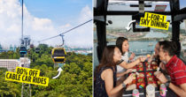 You Can Now Enjoy $3 Cable Car Rides & 1-For-1 Sky Dining At Sentosa