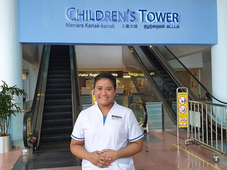 Frontline nurse in Singapore - KKH